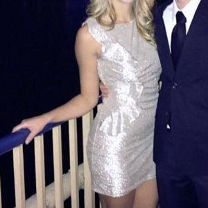 Silver mini dress